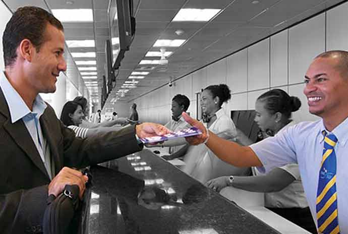 Expeditious check-in - Save time right from the start with Business Class priority check-in counters offering personalized and courteous service.